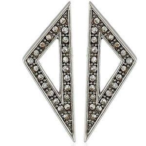 cc skye // dainty silver pavé triangle earrings